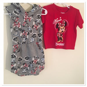 Minnie Mouse Hoodie Toddler Dress and TShirt